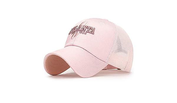 Sombrero de Sol Bordado protección Solar Mujer Rosa Ajustable ...