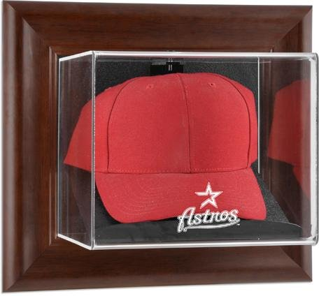 Mounted Memories Houston Astros Brown Framed Wall Mounted Logo Cap Case