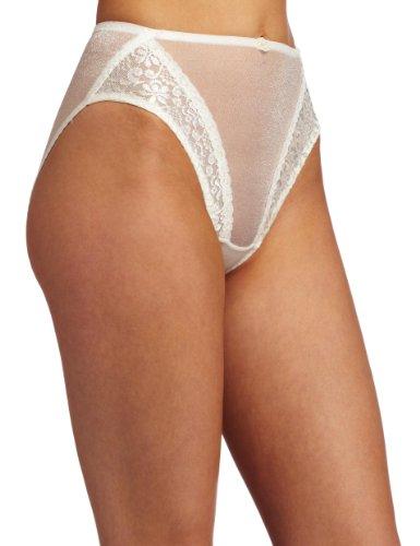 Carnival Womens High Cut Tux Stretch Bikini Panty, Ivory, XX-Large