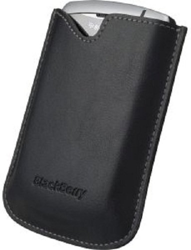 Blackberry HDW-14090-001 / HDW-14090-002 Vinyl Pocket for Curve Series - Original OEM - Carrying Case - Non-Retail Packaging - Black (Blackberry Vinyl Pocket)