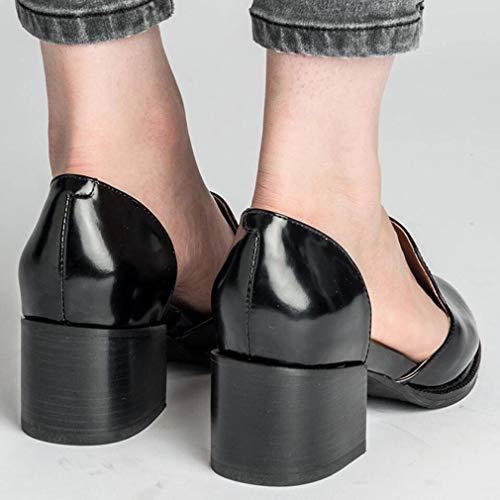 Hengsong Mi 5cm Femme Bloquer Talon Les Chaussures Casual Robustes zqS5rzxwH