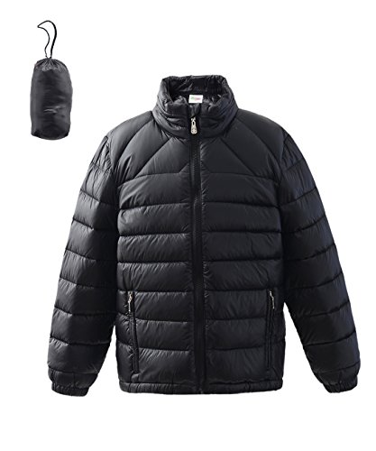 M2C Boy & Girls Outdoor Stand Collar Quilted Down Puffer Jacket 6/7 Black (Quilted Boys Jacket)