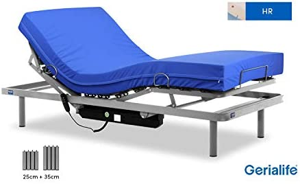 Gerialife® Cama articulada con colchón Sanitario HR Impermeable (105x190)