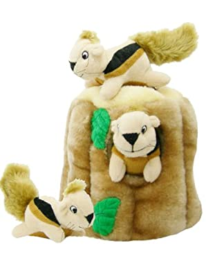 Outward Hound Hide-A-Squirrel and Puzzle Plush Squeaking Toys for Dogs by Outward Hound