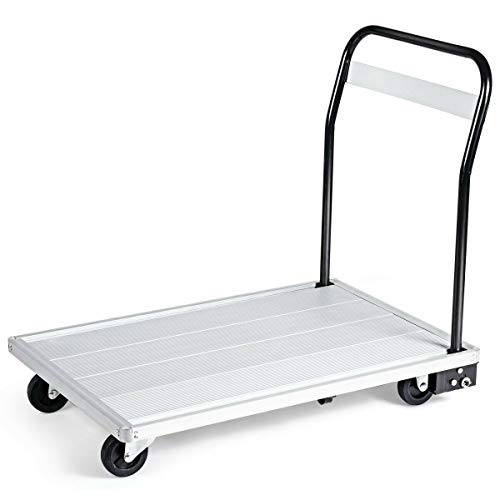 770 lbs Max Weight Cart Decoration Driver Dolly Anti-Rust Aluminum Space-Saving Folding Platform for Commercial Industrial and Household use Two-Directional Wheels and Two Universal Wheels from Iresamaz