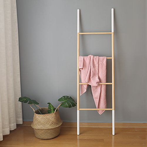 SHANGMENG Simple wood landing racks Landing hangers against the wall Trapezoidal towels clothes rack (Brown)