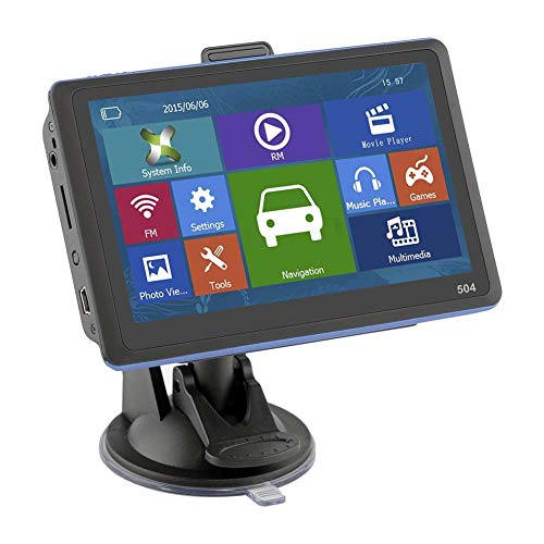Felix-Box - New 5 Inch GPS Navigation HD Display Navigator With Sunshade Free Map for Car Truck Bus Taxi CSL