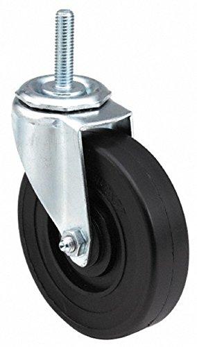 E.R. Wagner Stem Caster, Swivel, Polyolefin Wheel, Plain Bearing, 280 lbs Capacity, 5