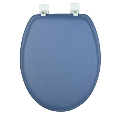 - GINSEY CLASSIQUE ELONGATED CUSHION SOFT PADDED TOILET SEAT - SMOKE BLUE