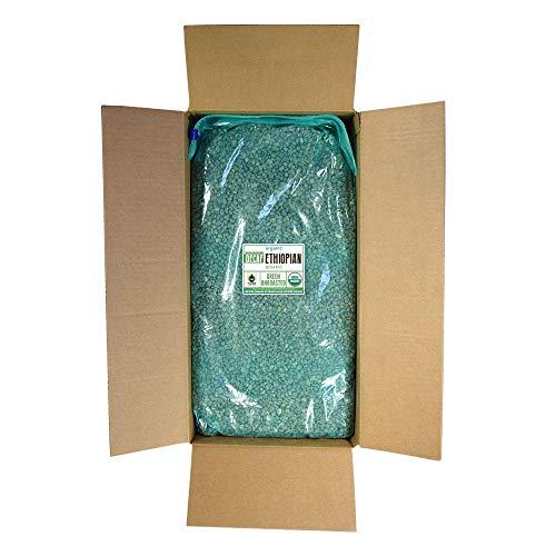 Fresh Roasted Coffee LLC, Green Unroasted Ethiopian Sidamo Decaffeinated Coffee Beans, Fair Trade, Water Process, USDA Organic, Bulk 25 Pound Bag