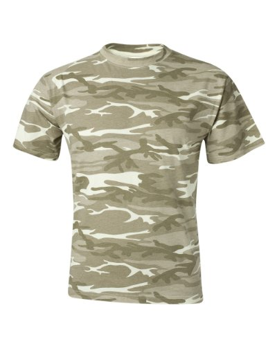 Anvil Midweight Camouflage T-Shirt (939)- CAMOUFLAGE SAND,3XL