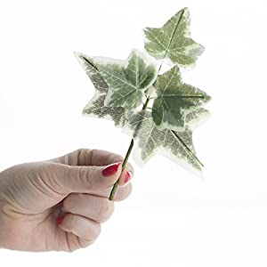 Factory Direct Craft Group of 6 Versatile Artificial Ivy Leaf Picks for Wedding Decor, Floral Arranging and Embellishing 2