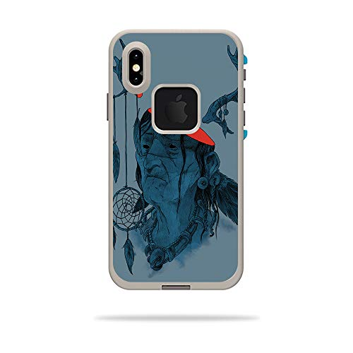 LifeProof FRE iPhone Xs Case - Transcend | Protective, Durable, and Unique Vinyl Decal wrap Cover | Easy to Apply, Remove, and Change Styles | Made in The USA ()