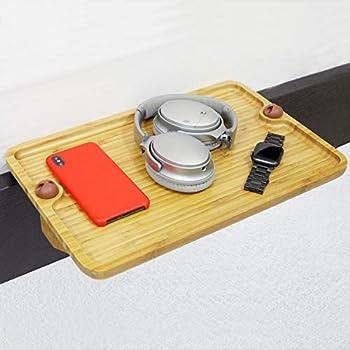Amazon Com Bedside Shelf Tray Stylish Bamboo Attachable