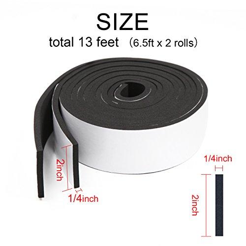 Weather Stripping, Foam Tape High Density Foam Seal Strip