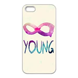 Forever Young Original New Print DIY Phone Case for Iphone 5,5S,personalized case cover ygtg590621