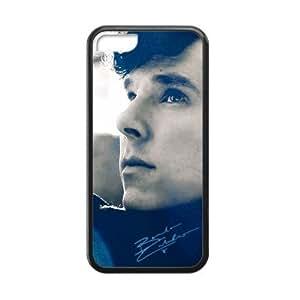 iPhone 5c Case, [Benedict Cumberbatch] iPhone 5c Case Custom Durable Case Cover for iPhone5c TPU case (Laser Technology)