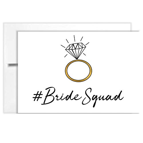 (Tiny Expressions Bride Squad Bridesmaid Proposal Cards with Envelopes (10 Pack))