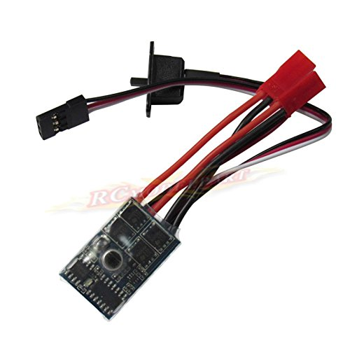 powerday RC ESC 10A Brushed Motor Speed Controller for RC Car Boat Tank with Brake This ESC can work with 130/180/260/280/380 Brushed Motor