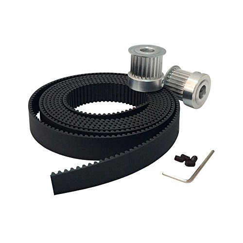 Discount BEMONOC 2Pcs 20 Teeth HTD 3M Timing Pulley Bore 6.35mm & 2Meters 3M Open Ended Polyurethane Rubber Timing Belt Width 15mm for Laser Engraving CNC Machines supplier