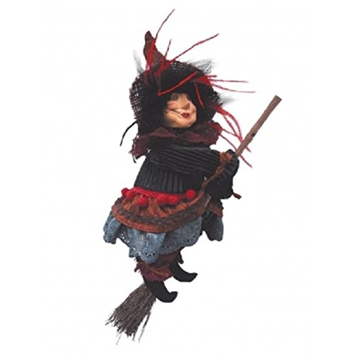Witches of Pendle - Anne Redfearn Witch Flying (Brown) 24cm 5546-2