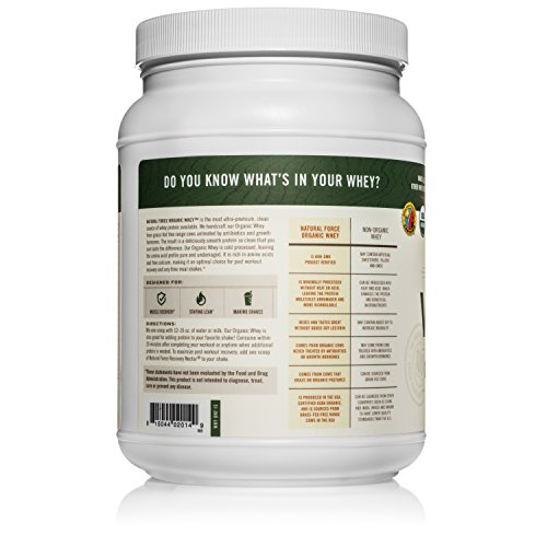 Natural Force® Undenatured Organic Whey Protein Powder *UNFLAVORED* Grass Fed Whey from California Farms – Raw Organic Whey, Paleo, Gluten Free, Natural Whey Protein, 13.76 oz. Bulk by Natural Force (Image #4)'