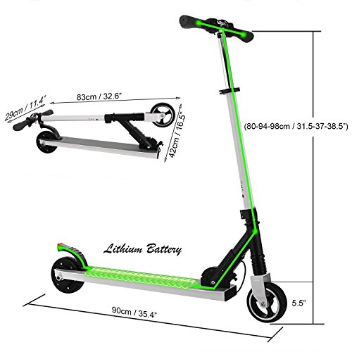 Unisex Adult Foldable Lightweight Transport Design High Speed Aluminum Alloy mymotto Electric Scooters White Ej6qbuh