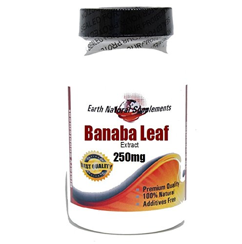 Banaba Leaf Extract 250mg * 180 Capsules 100 % Natural - by EarhNaturalSupplements (Extract Banaba Leaf)