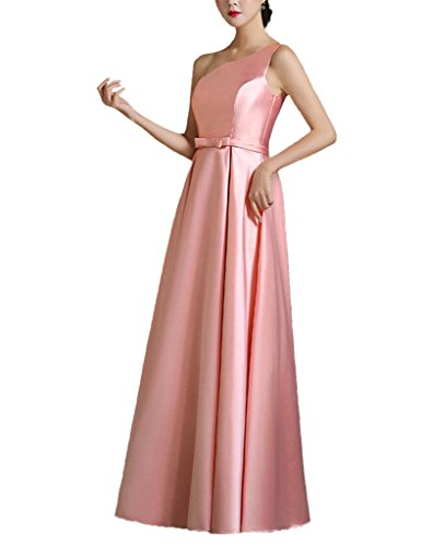 Color E Dress DESIGN Brief Elegant One-Shoulder Prom Dress Size 8 Pink