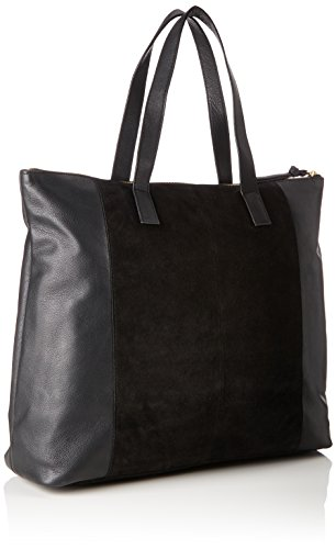 Black bxht Shopper Shoppers Bags black Shoulder 15x44x40 Pieces Suede Woman And Pcileana Cm SqBg1