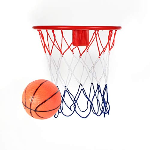 - Kicko 8-Inch Over The Door Basketball Hoop - with Mini Ball Set Or On The Wall - Fun Sports Game - Great for Kids, Teens and Adults