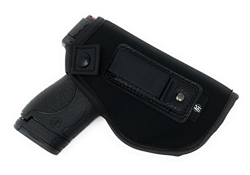 IWB Gun Holster By PH - Concealed Carry Soft Material | Soft Interior | Fits MP Shield 9mm.40.45 Auto/ GLOCK 26 27 29 30 33 42 43/ Ruger LC9, LC380 | Taurus Slim Line, PT111 | Springfield XD