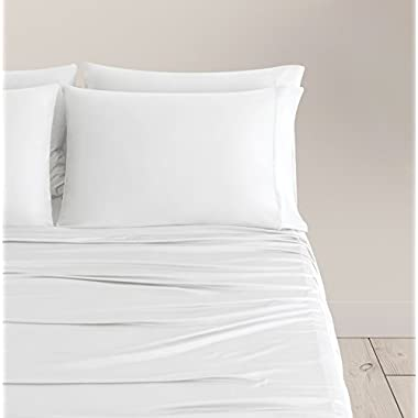 SHEEX Breezy Cooling Sheet Set with 2 Pillowcases, Ultra-Lightweight, Breathable, Silky-Soft Fabric for a Cool and Comfortable Night's Sleep, White (King)