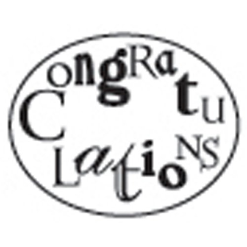 Manuscript Pen Decorative Resin Seal with Wax Stick, Congratulations