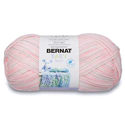 Bernat Baby Sport Big Ball Ombre Yarn, 9.8 oz, Gauge 3 Light, 100% Acrylic, Blossom