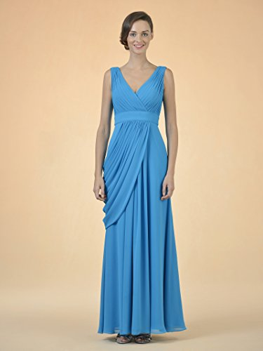 Alicepub V-cou Robe De Demoiselle D'honneur Partie Longue Robe De Soirée Formelle Pour Les Femmes D'argent Rose