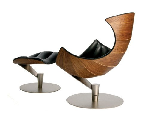 Merveilleux Amazon.com: Fjords Lobster Lounge Chair And Ottoman Walnut Wood Frame And  Steel Base By Hjellegjerde Of Norway Passion Black Leather Norwegian  Scandinavian ...