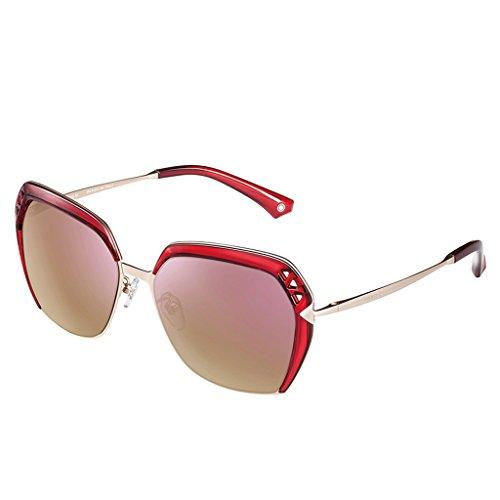 Élégantes Red de lady soleil polarisées lunettes gqpr6Ag