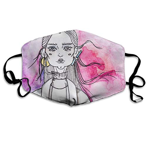 Pbedsw Close Up of Painting of Woman On Sphere Washable Reusable Safety Breathable Mask, 4.3
