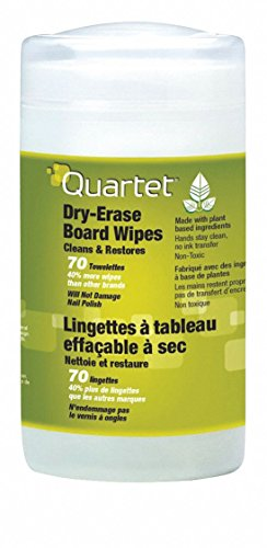 Quartet Dry Erase Board Cleaning Wipes, Removes Ghosting, Shadowing, Grease and Dirt, 7-3/4 x 5-1/2