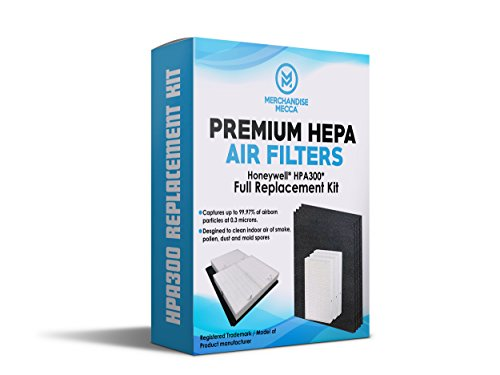 Premium True HEPA Replacement Filters for HPA300 Air Purifier Includes 3 HEPA R Filters and 4 Pre-Activated Carbon Filters - Fits models in the HPA090 series, HPA100 series, HPA200 series, HPA300