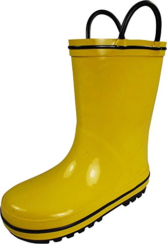 NORTY - Toddler Boys Waterproof Rainboot, Yellow, Black 39818-6MUSToddler