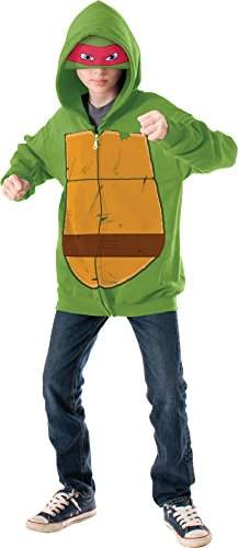 Teenage Mutant Ninja Turtles Raphael Hoodie Costume, Medium -