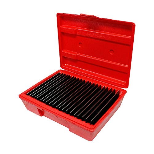 Boxlike9 Shop equipment tool Ultra Thin Steel Parallel Set of 20 Pairs 6inc Long Intervals 0001 inc iron