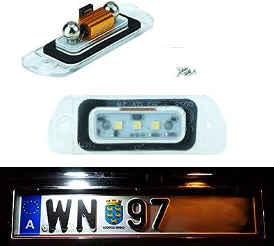 colore: bianco Luce a LED W164 effetto Xenon per targa Do!LED