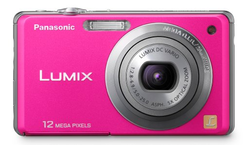Panasonic Lumix DMC-FH1 12.1 MP Digital Camera with 5x Optical Image Stabilized Zoom and 2.7-Inch LCD (Pink)
