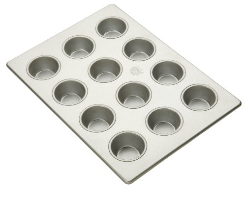 Focus Foodservice Commercial Bakeware 12 Count 2-3/4-Inch-Cupcake Pan, 13 by (Heavy Duty Muffin Pan)