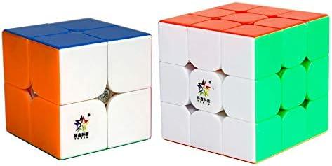 FunnyGoo Pack de Dos YuXin Little Magic Speed Cube Bundle, YuXin Little Magic 2x2x2 + 3x3x3 Speed Cube Magic Cube Suavemente rápido Twist Puzzle Puzzle Stickerless: Amazon.es: Juguetes y juegos