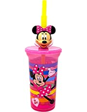 Granshop Disney Minnie Mouse 3D Character Mold Water Tumbler with Reusable Straw, 15oz, BPA Free by Zak Designs