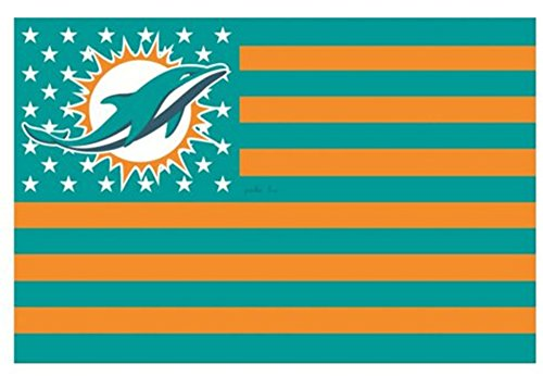 (Miami Dolphins 3x5FT Stars and Stripes Flag Dolphinsnation)
